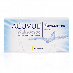 Acuvue oasys with hydraclear Plus, 6 шт. (акувью оазис уиз гидроклиар плюс)